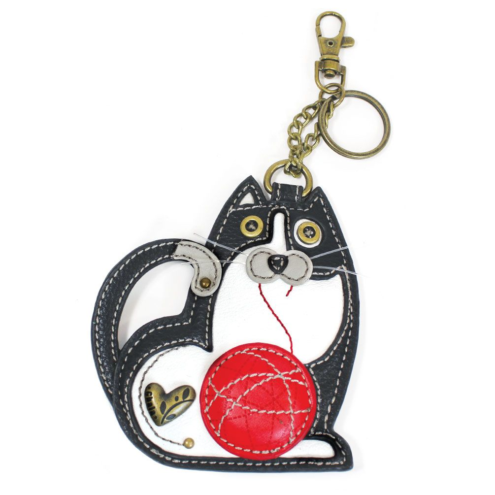Fat Cat Key Fob And Coin Purse